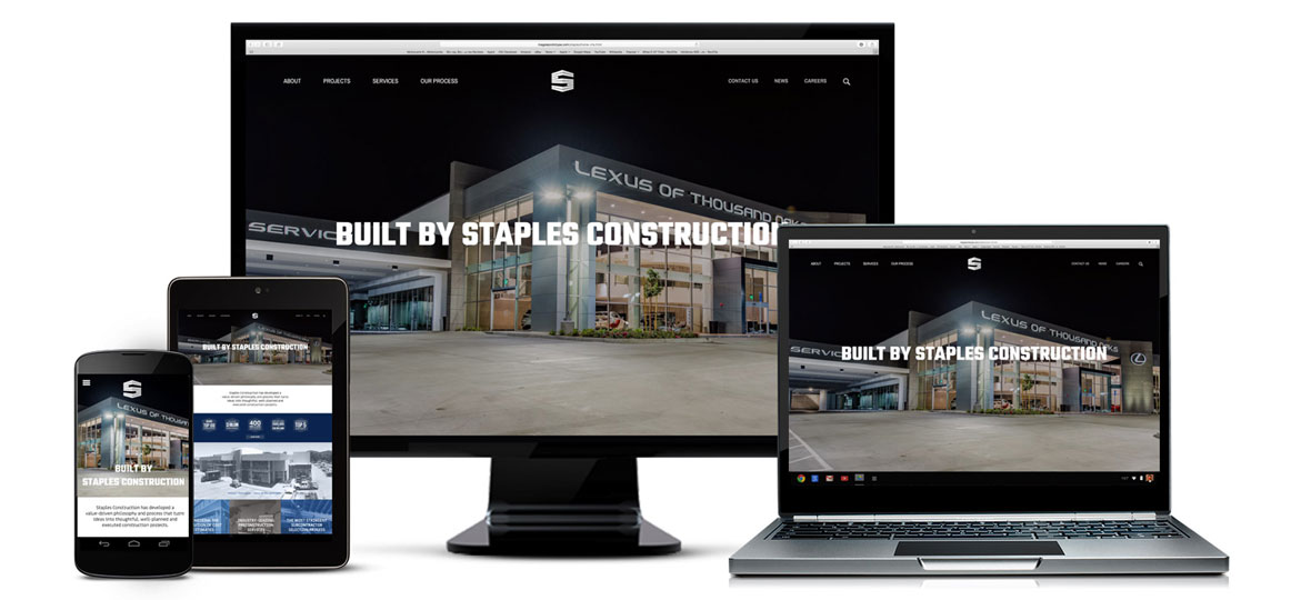 Staples Construction Launches New Website
